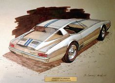 1967 pessoas Plymouth Barracuda Concept designed in 1964 by J.R. Samsen