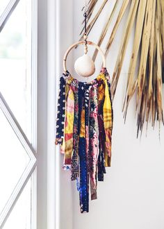 Paradise Land Agate Wall Hanging | Bohemian Home Decor by SoulMakes #bohemian #shells #wallhanging