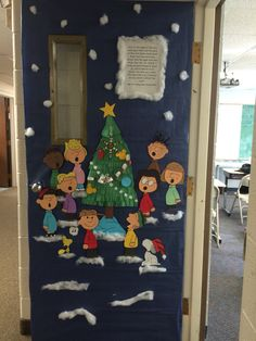 charlie brown christmas door by c williams whca christmas door christmas classroom door - Pinterest Christmas Door Decorations
