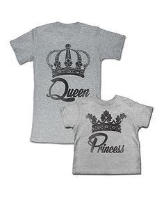 Look what I found on #zulily! MOMMY AND ME SHIRTS! Gray 'Queen' Tee & 'Princess' Tee - Toddler, Girls & Women #zulilyfinds Mom Daughter, Mother Daughter Shirts, Toddler Girls, Baby Kids, Mom And Me Shirts, Matching Outfits, Happy Soul, Mommy And Me Outfits, Toddler Fashion