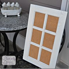 Window Pane Cork Board | PlumDoodles.com