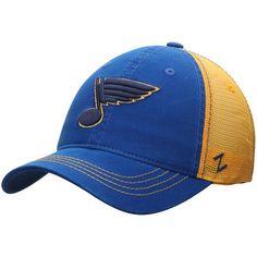 competitive price e846d 0db2f Zephyr St. Louis Blues Blue Gold NHL Riptide Slouch Trucker Adjustable Hat