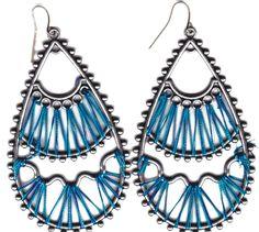 handmade drop shaped thread earrings « Jewellery Factory Blog
