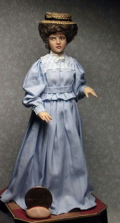 Lucy (Helena Bonham Carter) from the movie  A Room with a View...in miniature♥