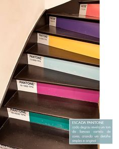Pantone Staircase in boutique of designer Adriana Barra, Brazil