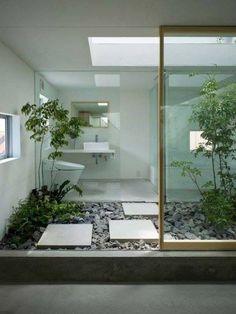 40 Modern and Futuristic Interior Designs to Inspire You - . - 40 Modern and Futuristic Interior Designs to Inspire You – - Patio Interior, Bathroom Interior, Modern Bathroom, Home Interior Design, Interior Architecture, Japan Bathroom, Design Bathroom, Garden Bathroom, Interior Modern