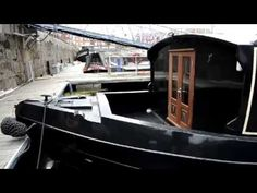 60x12 Wide Beam Canal Boat Dutch Barge, Canal Boat, Beams, Cabin, In This Moment, Cabins, Cottage, Wooden Houses, Exposed Beams