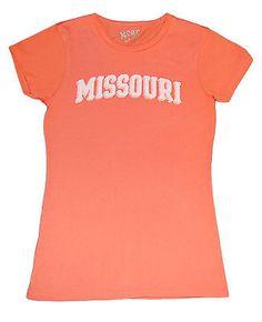 Missouri Tigers Gear Co.ed Women's Orange Short Sleeve T-Shirt (M)