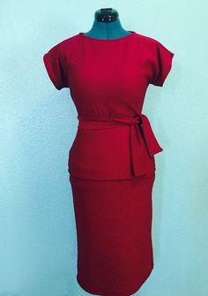 Gloria Skirt Set - by Hesitantsmile 1960s vintage style custom handmade