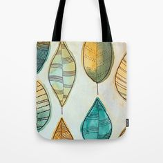 Rustic Leaves Tote Bag by lorimoro Reusable Tote Bags, Leaves, Rustic, Stuff To Buy, Products, Country Primitive, Retro, Farmhouse Style, Primitives