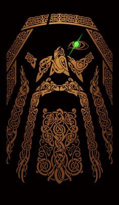 Viking Norse Pagan, Viking Symbols, Norse Mythology, Norse Tattoo, Celtic Tattoos, Viking Tattoos, Viking Art, Viking Warrior, Symbole Viking