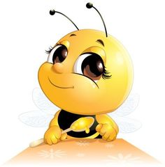 lovely cartoon bee set vectors 07