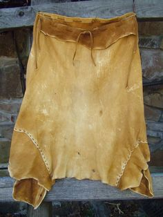 Brain tanned buckskin skirt: Handmade by: Daughter of the Sun  www.daughterofthesun.etsy.com