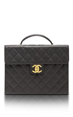 756d16ac174f7a Vintage Chanel Black Caviar Briefcase by What Goes Around Comes Around for  Preorder on Moda Operandi