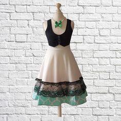 S Handmade Swing Skirt Etsy Shop Black Cherrys Store Vintage