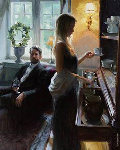 """I NEED TO HAVE YOU NEAR ME"", 92x73 cm, oil on canvas, artist Vladimir Volegov"
