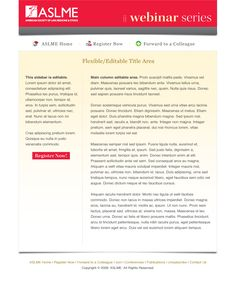 Webinar Series email template for ASLME