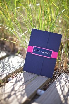 Pocket Fold Wedding Invitation Navy Blue Event Silver Invite Pink Modern Handmade More Weddings Ideas