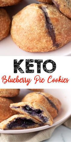 Tasty Keto blueberry pie cookies you CAN NOT stop eating! This simple ingredient keto recipe is easy to make and super yummy. Homemade not store bought keto low carb cookies. Keto Desserts, Keto Snacks, Blueberry Desserts, Dessert Recipes, Blueberry Cookies, Blueberry Bread, Recipes Dinner, Cookie Pie, Health Desserts