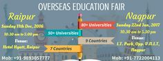 """""""Overseas Education Fair"""" hosted by Krishna Consultants at #Raipur on 11th DEC, 2016 and at Nagpur on 22nd JAN, 2017."""