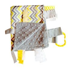 Yellow Chevron Sensory Blanket Lovey, For entertainment, comfort and sensory Play, Ribbons Sewn Shut Into Tabs Baby Jack Blankets http://www.amazon.com/dp/B00J26L6QK/ref=cm_sw_r_pi_dp_Yyouub1VYGV1X