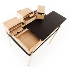 Polish designer Magdalena Tekieli's Secret Desk conceals a series of small…