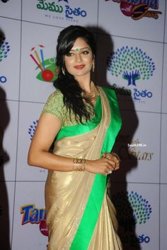 South Indian Telugu Film Actress #VimalaRaman in Saree At Memu Saitam Dinner With Stars Red Carpet