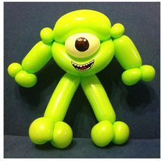 Mike from monsters inc Benjy needs to brush up on his balloon animal shapes.