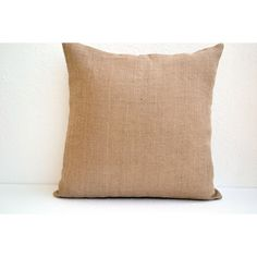 Natural Burlap Pillow Cover Button Closure Decorative Throw Pillow... (1,185 INR) via Polyvore featuring home, home decor, throw pillows, decorative pillows, home & living, home décor, silver, burlap home decor, jute throw pillows and burlap throw pillows