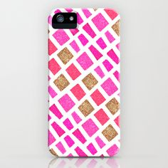 Pink Pattern iPhone Case by PAPERFASHION - $35.00