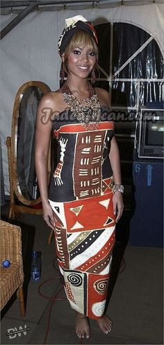 Beyonce Wearing an African Print Batik Dress. What's Your Review.