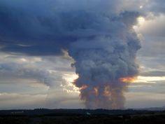 Pyrocumulonimbus formed by wild fire