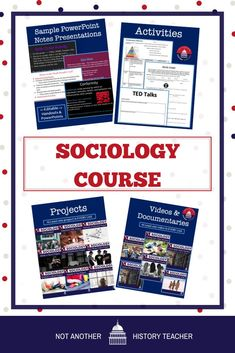 This amazing year-long Sociology course bundle will make your life easier!!! These are highly engaging, complete lessons, and activities for a sociology course. This is an easy to follow sociology course. Over 1,200 individual EDITABLE activities in ONE package! #sociology