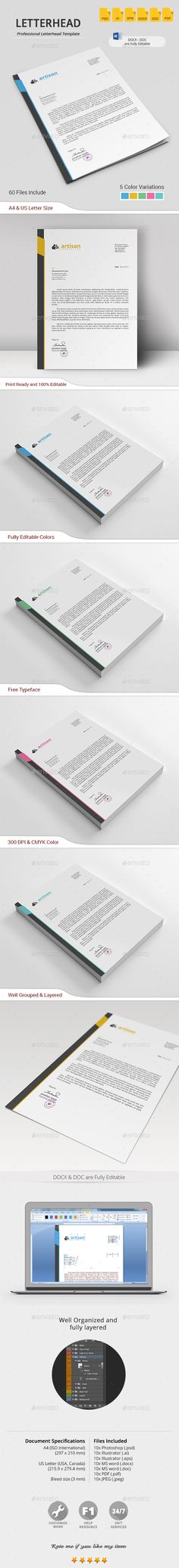 Professional Letterhead Templates Letterhead Pad Templates  #officeforms&businessprintables .