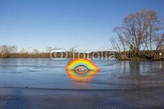 #Frozen #Rainbow At #Lake #Königsdorf @fotolia @fotoliaDE #fotolia #nature #landscape #austria #burgenland #bluesky #outdoor #winter #season #stock #photo #download #portfolio #hires #royaltyfree