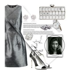 """""""Metallic Empire"""" by israa-rz ❤ liked on Polyvore featuring Iris & Ink, GUESS by Marciano, Tom Ford and Michael Kors"""