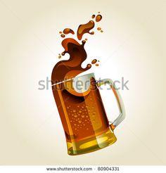 stock-vector-black-beer-mug-with-splash-over-white-background-80904331.jpg (450×470)