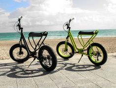 A much better design. And bigger tires will let you go where you need to. Could add a motor for assistance. Healthy like a Bike, Convenient like a Scooter! | Yanko Design