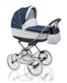 """12 teiliges Klassisches Qualitäts-Kinderwagenset 2 in 1 Roan """"MARITA PRESTIGE"""": Kinderwagen + Buggy + Sonnenschirm + Chromgestell + Mega-Zubehör - in Farbe S-149 (ROT-WEISSE PUNKTE): Amazon.de: Baby"""
