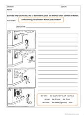 Personenbeschreibung schreiben_2 Arbeitsblatt - Kostenlose DAF Arbeitsblätter
