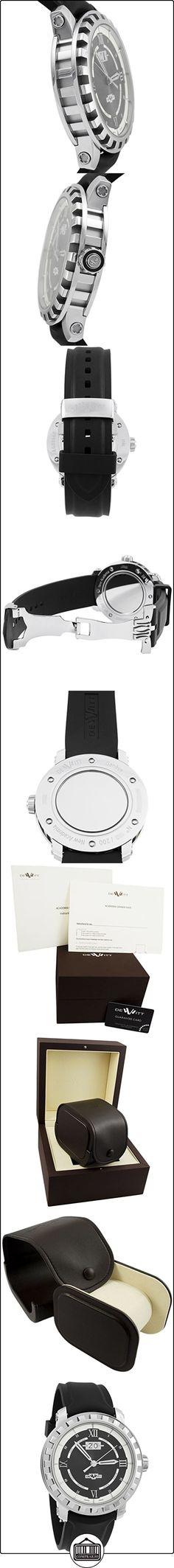 Dewitt Academia grande Fecha automática de acero inoxidable reloj para hombre Nac. Gde. 001  ✿ Relojes para hombre - (Lujo) ✿