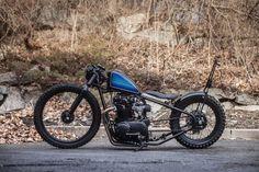 bikebound: Big Wheel: 1981 Yamaha personal project from. Vintage Motorcycles, Custom Motorcycles, Custom Bikes, Xs650 Bobber, Scrambler, Bobber Bikes, Big Wheel Trike, Storm Marvel, Bike Builder