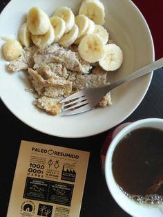 Día 253: desayunos paleos para días largos: tortilla de coco y plátano <3