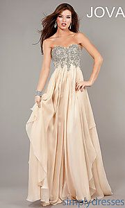 Buy Full Length Strapless Formal Gown at SimplyDresses