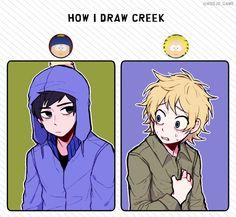 How they draw Creek ♡