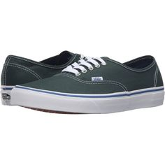 b23ee0836c1 Vans Authentic (Green Gables True White) Skate Shoes (2.445 RUB) ❤ liked on  Polyvore featuring shoes