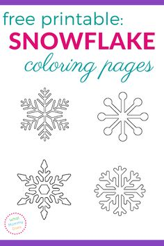 Free Printable Coloring Pages Fresh Free Printable Snowflake Coloring Pages Free Printable Coloring Pages, Templates Printable Free, Coloring Pages For Kids, Coloring Sheets, Free Printables, Snowflake Printables, Snowflake Template, Ornament Template, Simple Snowflake