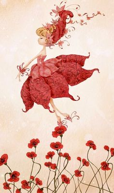 Rebecca Dautremer (I believe). She doesn't have any wings, but she MUST be a fairy. Magical Creatures, Fantasy Creatures, Fairy Pictures, Flower Fairies, Fairy Art, Whimsical Art, Cute Illustration, Cute Art, Fantasy Art