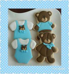 teddy bear baby shower cookies