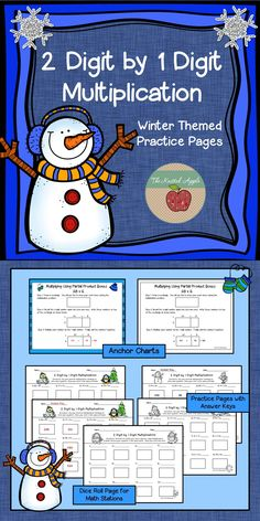 by 1 digit multiplication practice pages using partial products- answer keys and anchor charts included! Partial Product Multiplication, Multiplication Practice, Fun Math, Math Games, Math Activities, School Teacher, School Fun, School Stuff, Third Grade Math